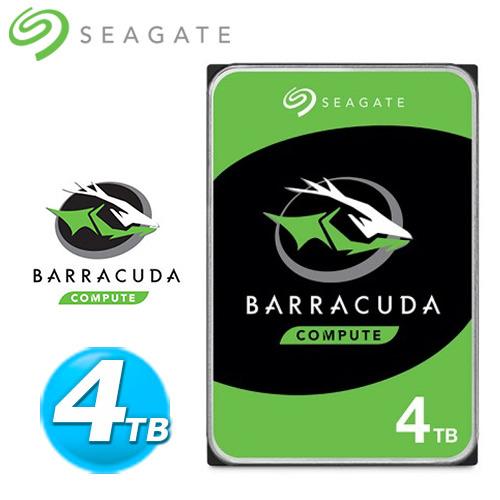 Seagate【BarraCuda】新梭魚 4TB 3.5吋桌上型硬碟 (ST4000DM004)