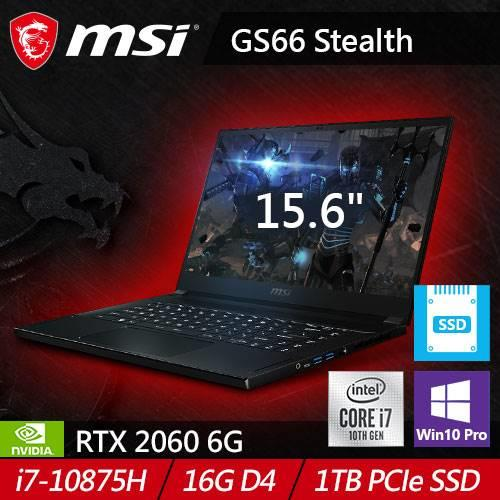 MSI微星 GS66 Stealth 10SE-413TW 15.6吋旗艦款筆電 (RTX2060)