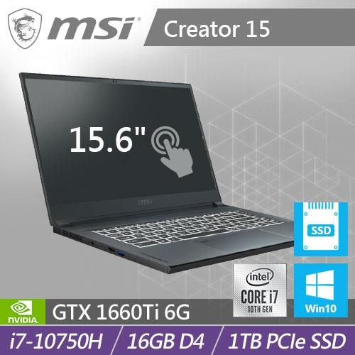 MSI微星 Creator 15 A10SDT-073TW 15.6吋觸控式螢幕創作者筆電
