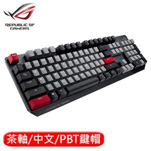 ASUS 華碩 ROG Strix Scope PBT 機械電競鍵盤 茶軸中文