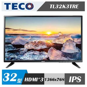 TECO東元 32吋 LED液晶顯示器 TL32K3TRE+視訊盒TS1316TRA(含舊機回收)