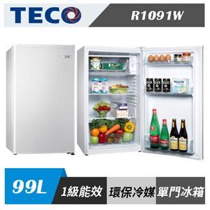 TECO 東元 R1091W 99公升 單門 小鮮綠 冰箱(白色)
