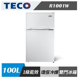 東元TECO R1001W 100L 一級能效 雙門 小冰箱
