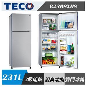 TECO 東元 R2308XHS 231公升 二級能效變頻雙門冰箱(含基本安裝)