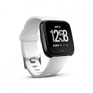 Fitbit Versa 智能運動手錶 (黑框白)