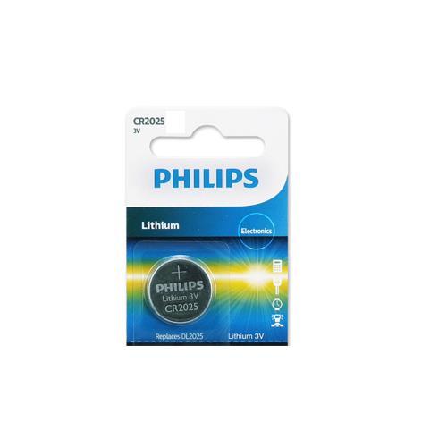 PHILIPS 飛利浦 CR2025 / 3V鈕扣鋰電池 1顆裝
