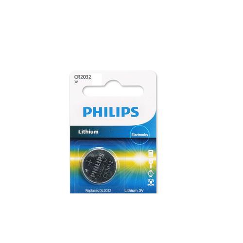 PHILIPS 飛利浦 CR2032 / 3V鈕扣鋰電池 1顆裝