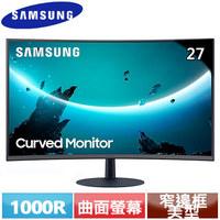 ★新品預購中★SAMSUNG三星 27型 C27T550FDC 1000R曲面液晶螢幕