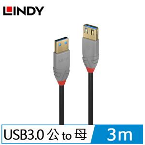 LINDY林帝 ANTHRA LINE USB3.0 TYPE-A 公 TO 母 延長線 3M