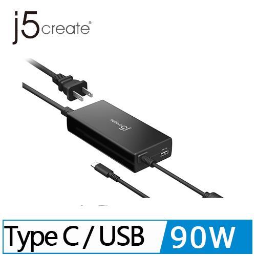 j5 JUP2290T 90W PD USB-C™ 筆電電源供應器