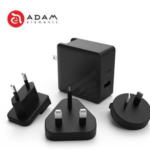 【亞果元素】ADAM OMNIA P5 多國快速充電器 57W 黑