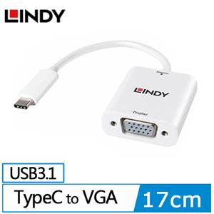 LINDY 主動式 USB3.1 TYPE-C TO VGA轉接器