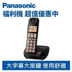 【福利品】Panasonic 國際牌 KX-TGE110TWB 大按鍵 大螢幕 數位 無線 電話