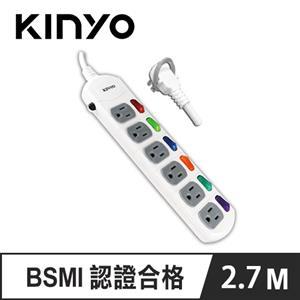 KINYO CG166-9 6開6插延長線 9呎 2.7M