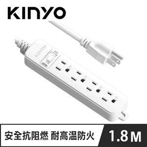 KINYO SD-3146 1開4插安全延長線 6呎 1.8M
