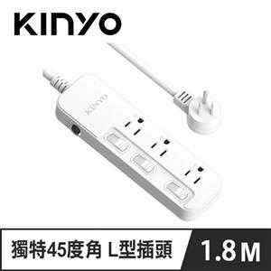 KINYO SD-3336 3開3插安全延長線 6呎 1.8M