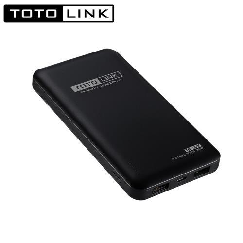 TOTOLINK 超薄快充10000行動電源 TB10000 黑色