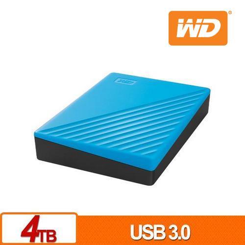 WD 威騰 My Passport 4TB(藍) 2.5吋行動硬碟(2019)