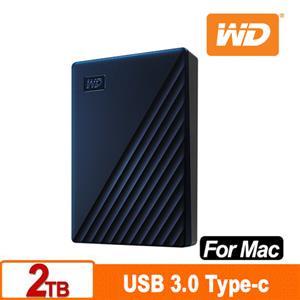 WD My Passport for Mac 2TB 2.5吋USB-C行動硬碟(2019)