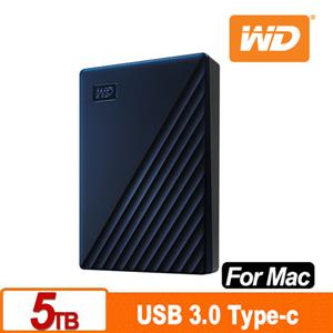 WD My Passport for Mac 5TB 2.5吋USB-C行動硬碟(2019)