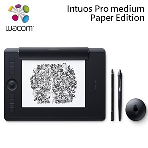 Wacom Intuos Pro Paper Edition Medium雙功能創意觸控繪圖板
