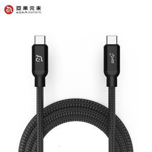 【亞果元素】ADAM CASA C200+ USB3.1 Gen 2 C對C充電傳輸線 黑 2m