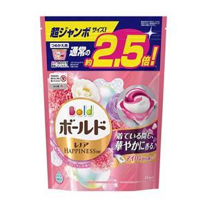 日本P&G 3D雙色洗衣膠球44入X3包(粉色-牡丹花香)