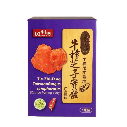 利得 帖之堂 牛樟芝子實體口含顆粒 【40粒/1瓶/盒】