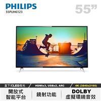 PHILIPS 55型4K聯網LED顯示器  55PUH6123/96