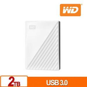 WD My Passport 2TB(白) 2.5吋行動硬碟(2019)