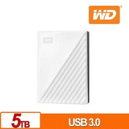 WD 威騰 My Passport 5TB(白) 2.5吋行動硬碟(2019)