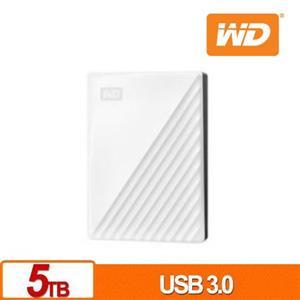 WD My Passport 5TB(白) 2.5吋行動硬碟(2019)