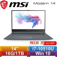 MSI微星 Modern 14 A10RAS-1042TW 14吋窄邊框輕薄創作者筆電