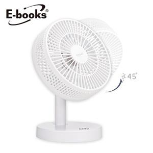 E-books K24 無印風可調速6吋桌上型充電風扇 白
