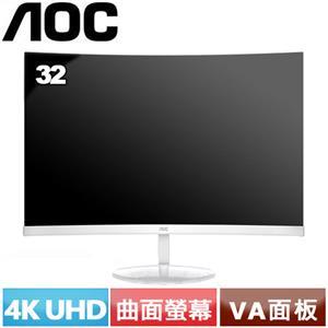 AOC CU32V3/WW 32型 曲面大理石紋美型機螢幕