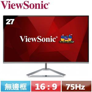 ViewSonic優派 27型 時尚無邊框IPS螢幕 VX2776-SH
