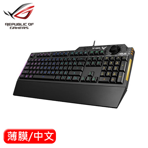 ASUS 華碩 TUF Gaming K1 RGB 機械薄膜電競鍵盤 中文