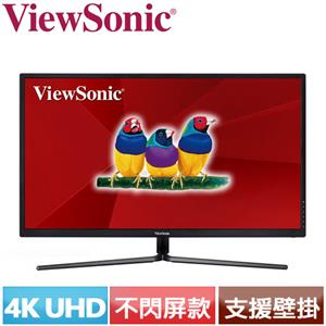 R1【福利品】ViewSonic優派 32型 4K超高解析電競螢幕 VX3211-4K-MHD .