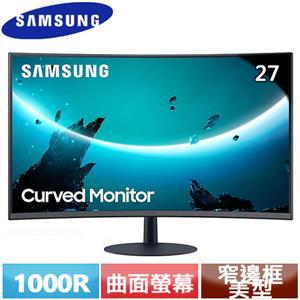 R2【福利品】SAMSUNG三星 27型 C27T550FDC 1000R曲面液晶螢幕.