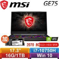 【加SSD】MSI GE75 Raider 10SF-007TW 17.3吋電競
