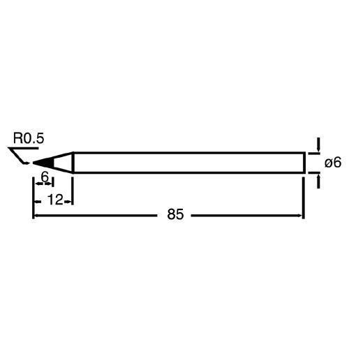 Pro'sKit寶工合金烙鐵頭 6B(5PCS)