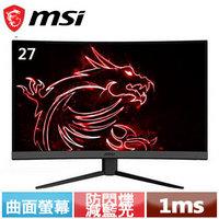 MSI微星 27型 MAG272C 165Hz 曲面電競螢幕