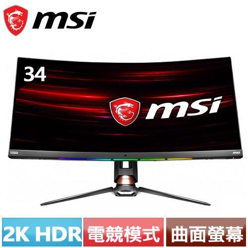 MSI Optix 34型 21:9曲面2K電競螢幕 MPG341CQR