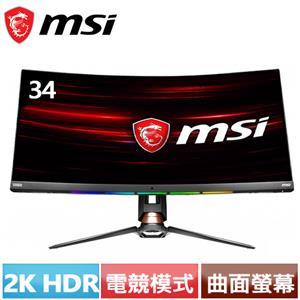 MSI微星 Optix 34型 21:9曲面2K電競螢幕 MPG341CQR
