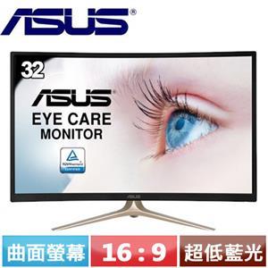 ASUS華碩 32型 超低藍光護眼曲面螢幕 VA327HR