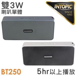 INTOPIC 多功能藍牙喇叭SP-HM-BT250-S