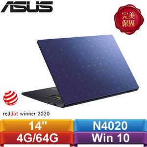 ASUS華碩 E410MA-0131BN4020 14吋輕薄小筆電 夢想藍