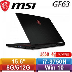 MSI微星 GF63 Thin 9SCXR-664TW 15.6吋電競筆電