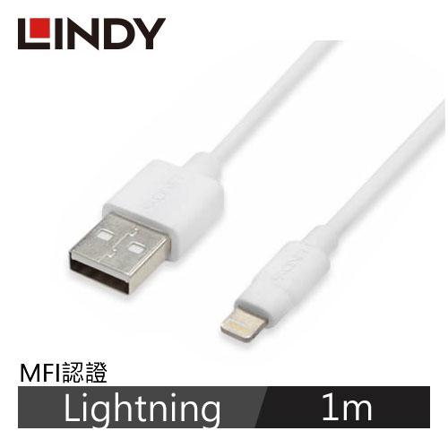 LINDY林帝 Apple認證Lightning 充電傳輸線 1m