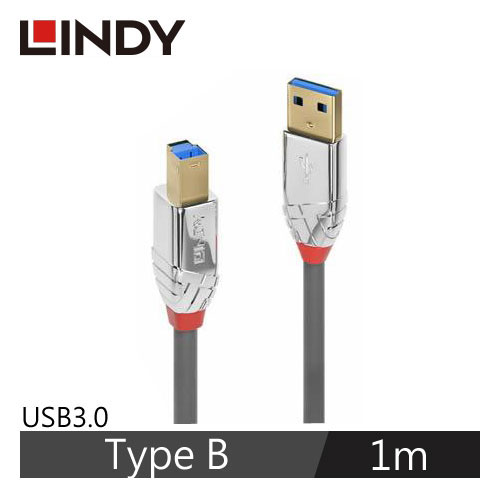 林帝 CROMO LINE USB3.0 TYPE-A/公 TO TYPE-B/公 傳輸線 1M